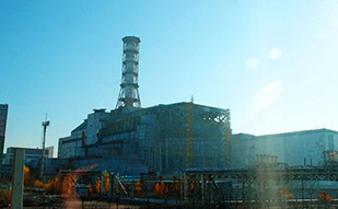 Reactors 3 and 4, digital print, links to Ukraine, Chernobyl series
