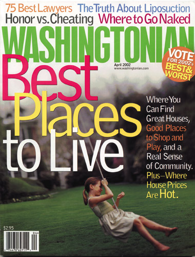 Washington magazine Aprin 2002 cover
